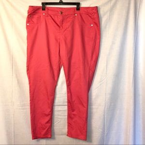 Maurices Melon Pinky Orange Coral Jeans Wm 22